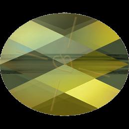 Swarovski Mini Oval Bead 8*6mm - Iridescent Green
