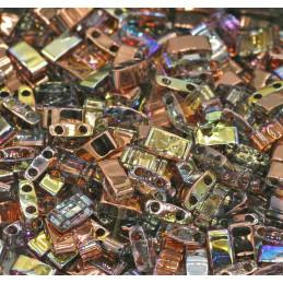 Half Tila Miyuki 5*2mm Cristal Copper Rainbow HTL-55020