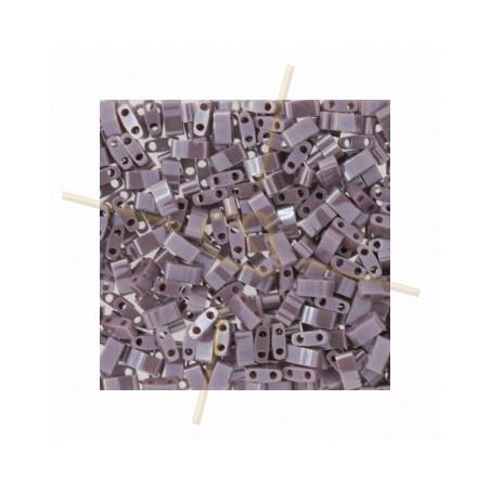 Half Tila Miyuki 5*2mm Opaque Mauve Luster HTL-437