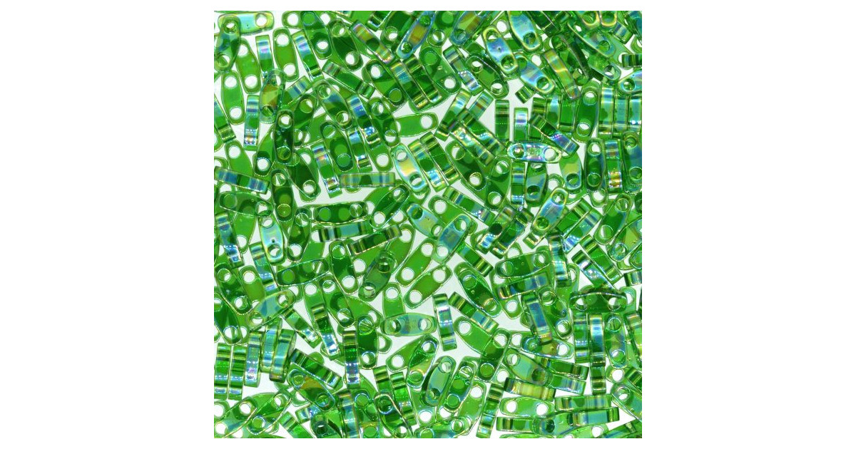 Miyuki Quarter Tila Green Luster Transparent AB QTL-179