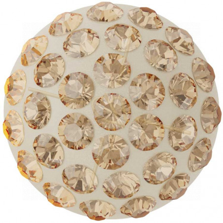 Cabochon Pavé Swarovski 8mm Golden Shadow 86601