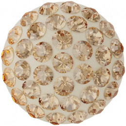 Cabochon Pavé Swarovski 12mm Golden Shadow 86601