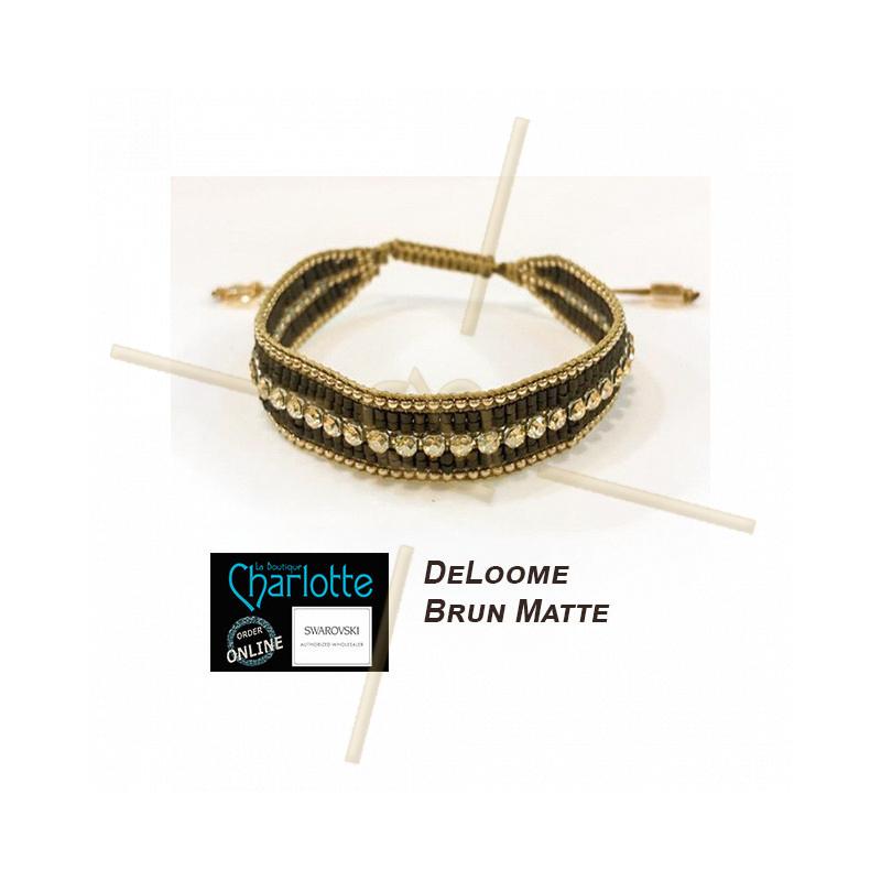 Kit armband DeLoom Brun Matte