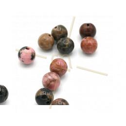 Rhodonite pierre naturelle gemme 8mm