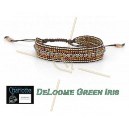 Kit armband DeLoome Green Iris