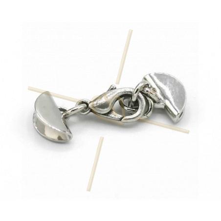 combi clasp with endcaps 11mm rhodium