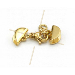combi clasp with endcaps 11mm goldplated
