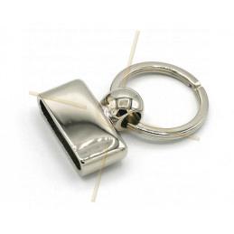 Porte clé 30mm Rhodium