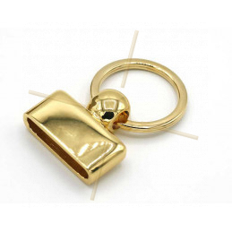 Keyring  30mm Gold Plated
