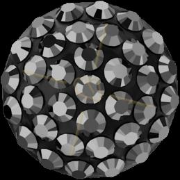 Cabochon Pavé Swarovski 12mm Hematite 86601