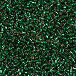 Miyuki Delica 11/0 - Silver Lined Green - Db0148