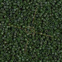 Miyuki Delica 11/0 - Opaque Frosted Dark Green - Db663