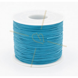 Macramé touw 0.5mm polyester clearbleu - rol 100 meter