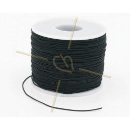 Macramé touw 0.5mm polyester noir - rol 100 meter
