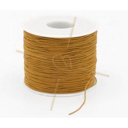 Macramé touw 0.5mm polyester crème - rol 100 meter
