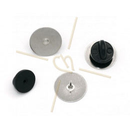 Pins support rhodium 15mm