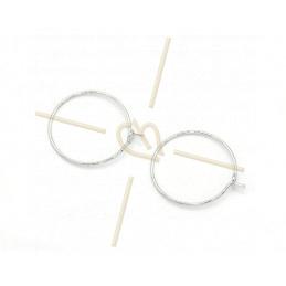 Créolen oorbellen rond 20mm Rhodium