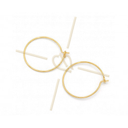 Hoops Earrings round 20mm Gold Plated