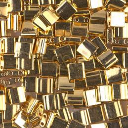 Tila bead Miyuki 24KT Gold Plated