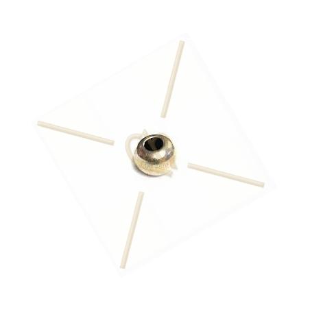 metalen eindbol 5*3mm inter. 2mm