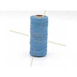 Macramé cordon 0.5mm polyester Premium Quality Blue Light Sapphire