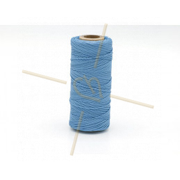 Macramé touw 0.5mm polyester Premium Quality Blue Light Sapphire