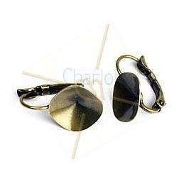 boucle d'oreille pour 1 cabochon 12*12mm