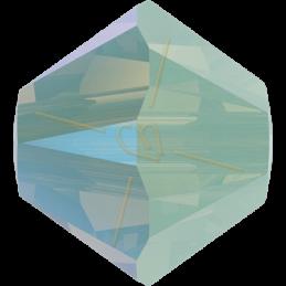 Swarovski 5328 Bicone 4mm Chrysolite Opal Shimmer