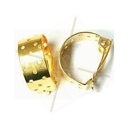 earrings clips 21mm perforated