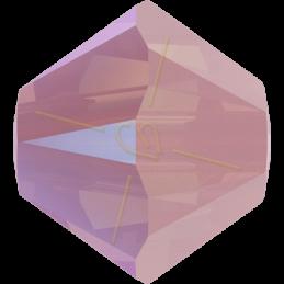 Swarovski 5328 toupie 4mm Rose Water Opal Shimmer