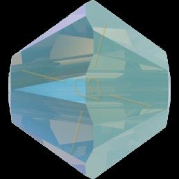 Swarovski 5328 bicone 4mm Pacific Opal Shimmer