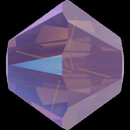 Swarovski 5328 toupie 4mm Cyclamen Opal Shimmer