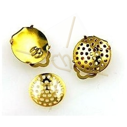 earrings round 17mm perforated