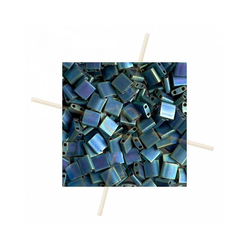 Tila bead Miyuki Matte Mtlc Blue Green Iris TL-2064