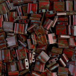 Tila bead Miyuki Opaque Red Picasso TL-4521