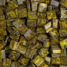 Tila bead Miyuki Opaque Yellow Picasso TL-4519