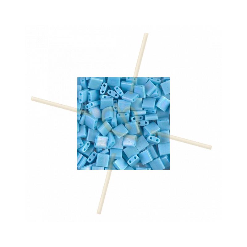 Tila bead Miyuki Turquoise Blue Matted AB TL-413FR