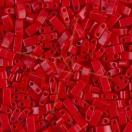 Half Tila Miyuki 5*2mm Opaque Red HTL-408