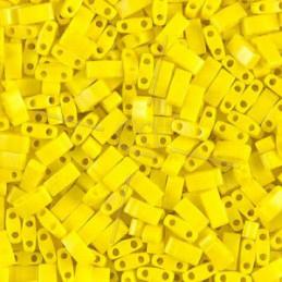 Half Tila Miyuki 5*2mm Opaque Yellow HTL-404