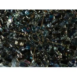Half Tila Miyuki 5*2mm Crystal Graphite Rainbow HTL-55024