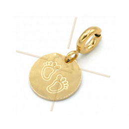 Charms Stainless Steel Gold Plated babyfeed with clasp