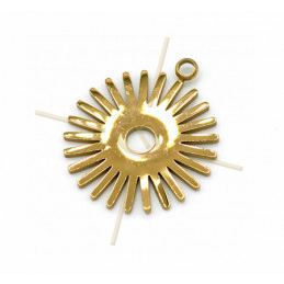 Charms acier inoxydable Gold Plated Sun 20mm