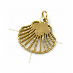 Charms Stainless Steel Gold Plated leaf Ginko 12mm
