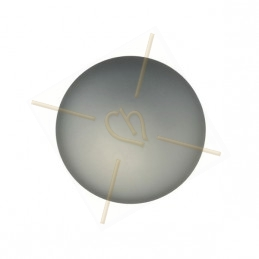 ronde strassbal 12mm cristal AB