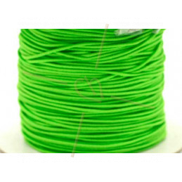 Elastic cord for hygienic masks 1.3mm Green Fluo