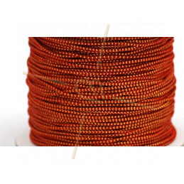 Elastic cord for hygienic masks 1.3mm Red Gold