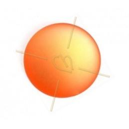 ronde strassbal 12mm peridot