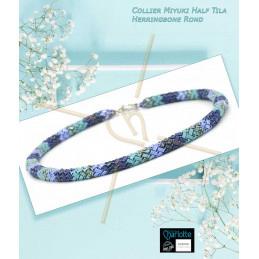 Necklace Miyuki Half Tila...