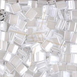 Half Tila Miyuki 5*2mm Ceylon Blanc 511