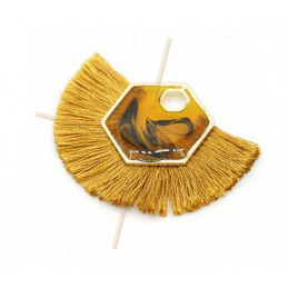 Tassel synth. 45*35mm Occre / Gold